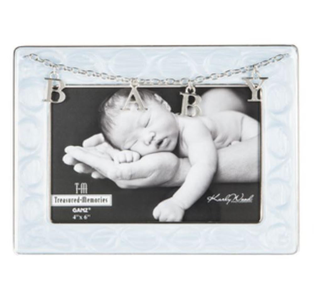 Baby Frame - Letter Charms Blue