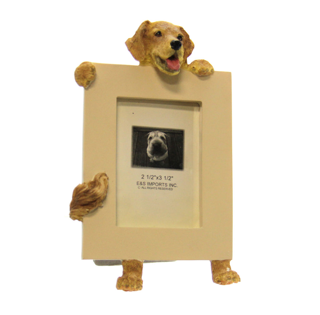 Picture Frame Golden Retriever w/Tail