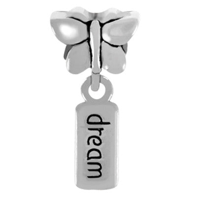 Dream Butterfly Dangle LuTini Petite Plated Inspiration Bead