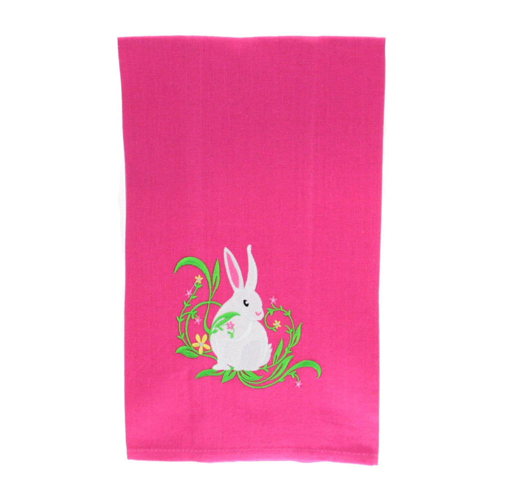 Easter Bunny with Flowers Towel