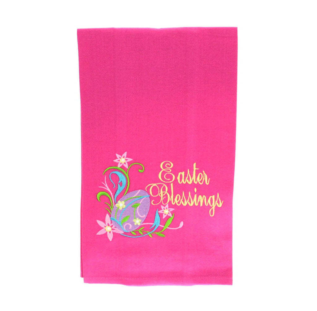 Easter Blessings with Flowers Towel