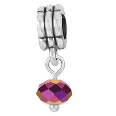 Purple Metallic Dangle LuTini Petite Bead