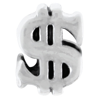 Dollar Sign LuTini Petite Plated Symbol Bead