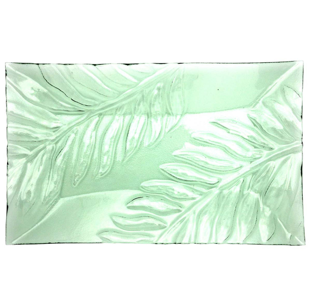 Green Fern Platter Large