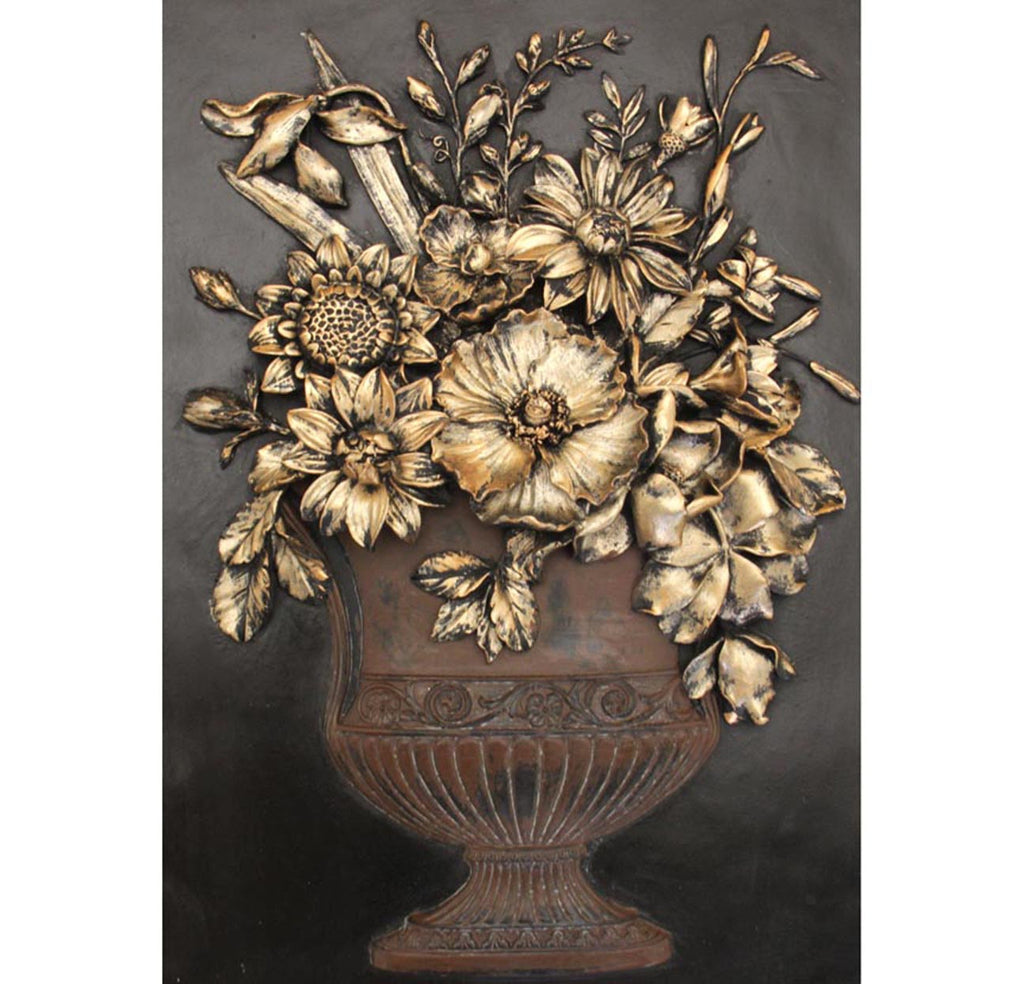 Floral Design Wall Art Vintage 3D