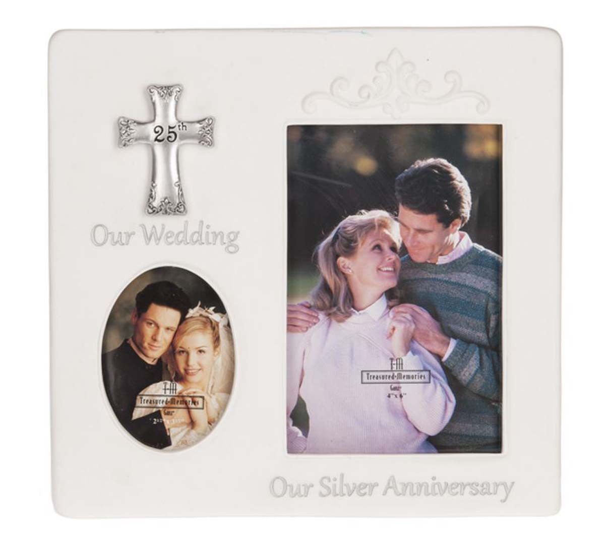Anniversary Blessing Then Now Frame 25th Jubilee Gift Shop