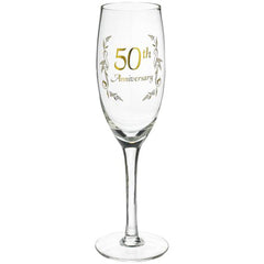 50th Anniversary Champagne Glass