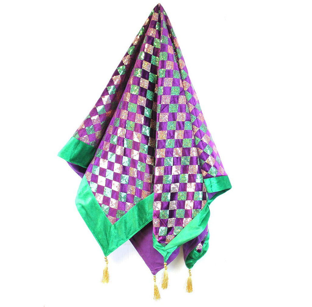 Mardi Gras Square Tablecloth