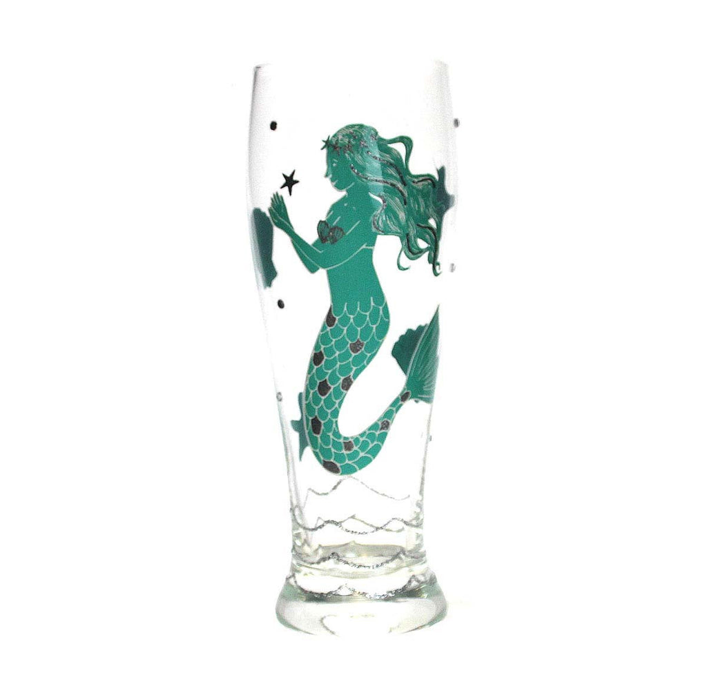 Mermaid Pilsner Glass Green