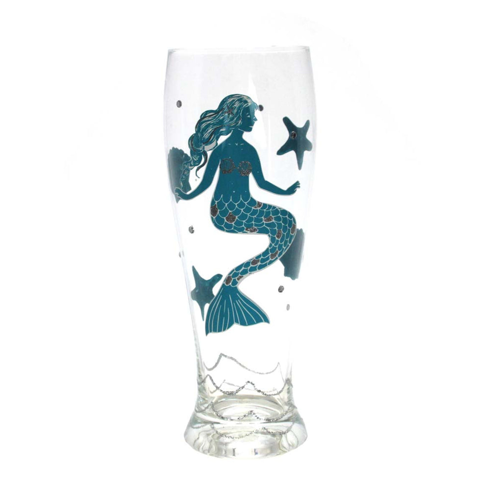 Mermaid Pilsner Glass Blue