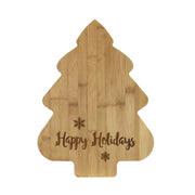 Bamboo Tree Cutting Board - Happy Holiday