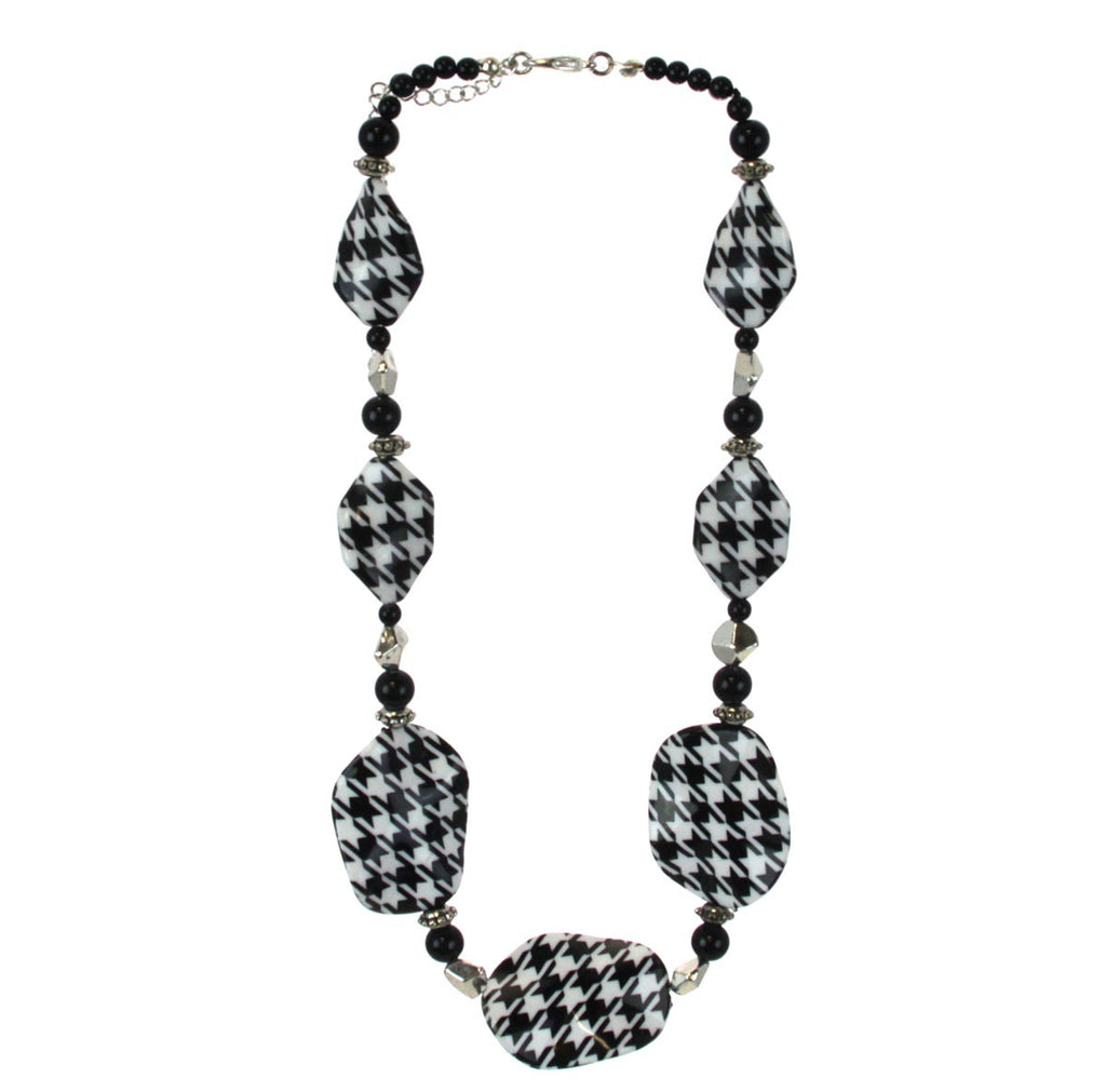 Houndstooth Necklace Beaded