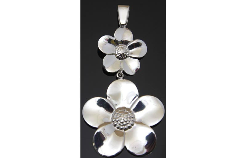 Flower Pendant Sterling Silver