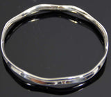 Sterling Silver Wave Design Bangle
