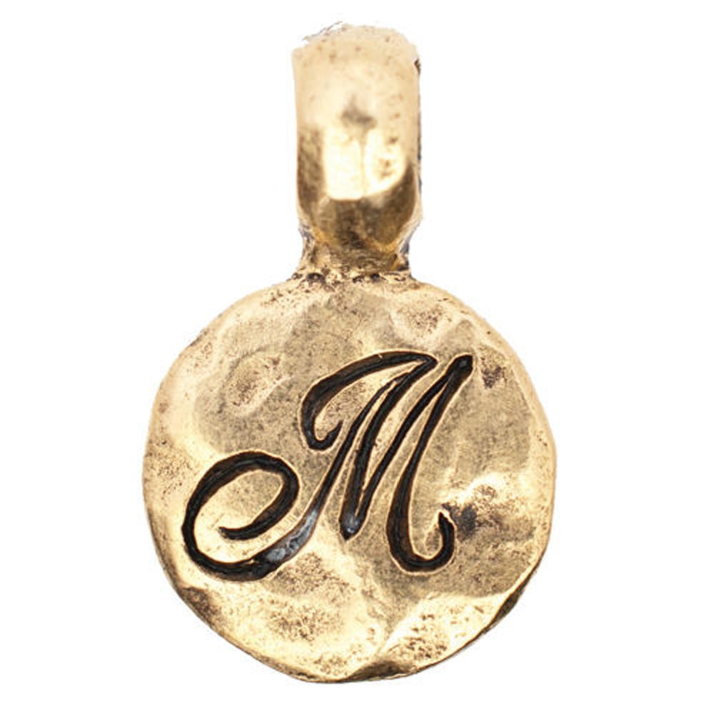 Monogram M with Bale Charm Gold