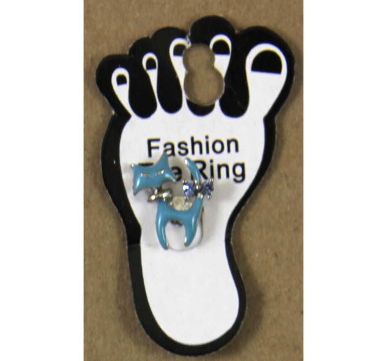 Toe Ring Cat Blue