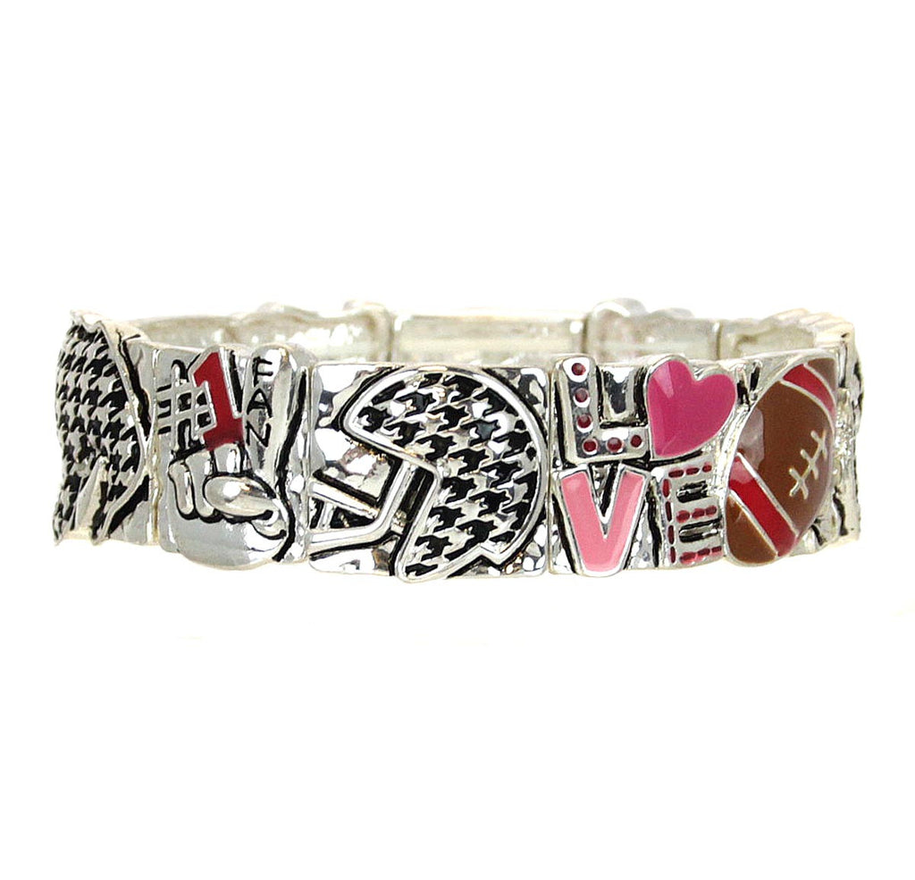 Houndstooth Bracelet Stretch Football