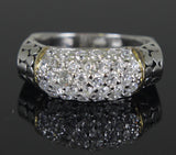 Sterling Silver Diamond Zirconia Ring Size 8