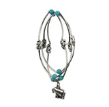 Elephant Bracelet/Necklace Turquoise