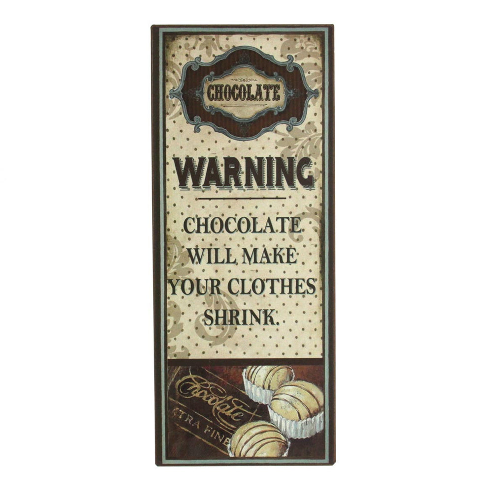 Plaque - Warning Chocolate