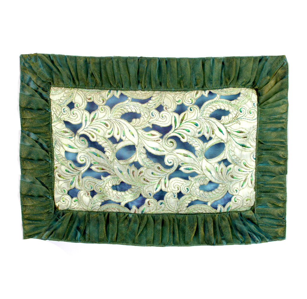 Peacock Colors Metallic Placemats