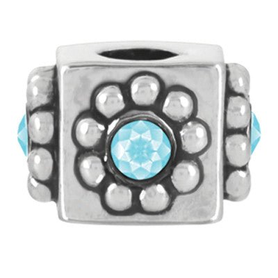 March Crystal Cube LuTini Petite Birthstone Bead