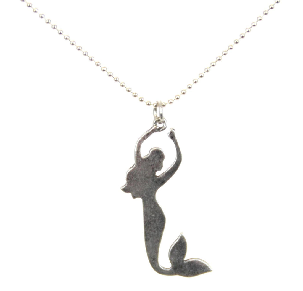 Mermaid Necklace Aged Metal
