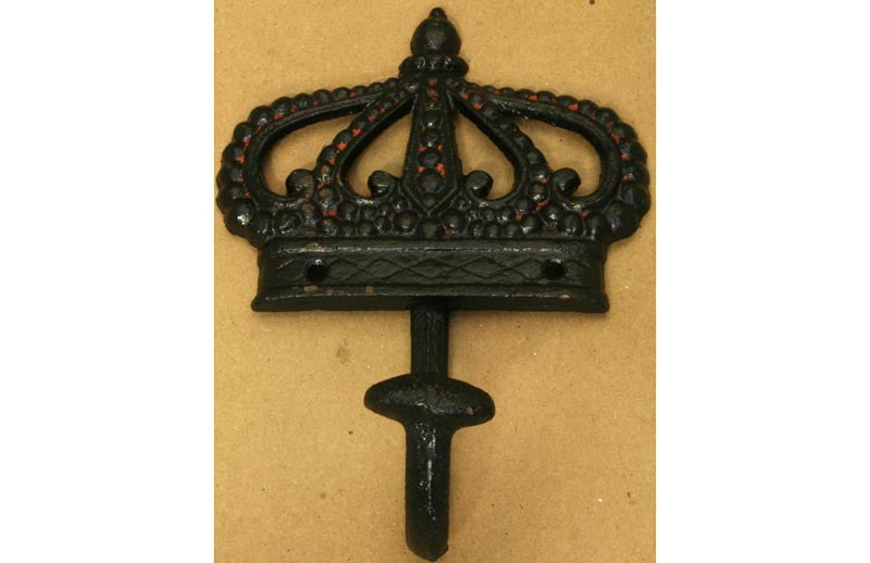Crown Wall Hook Antique Black