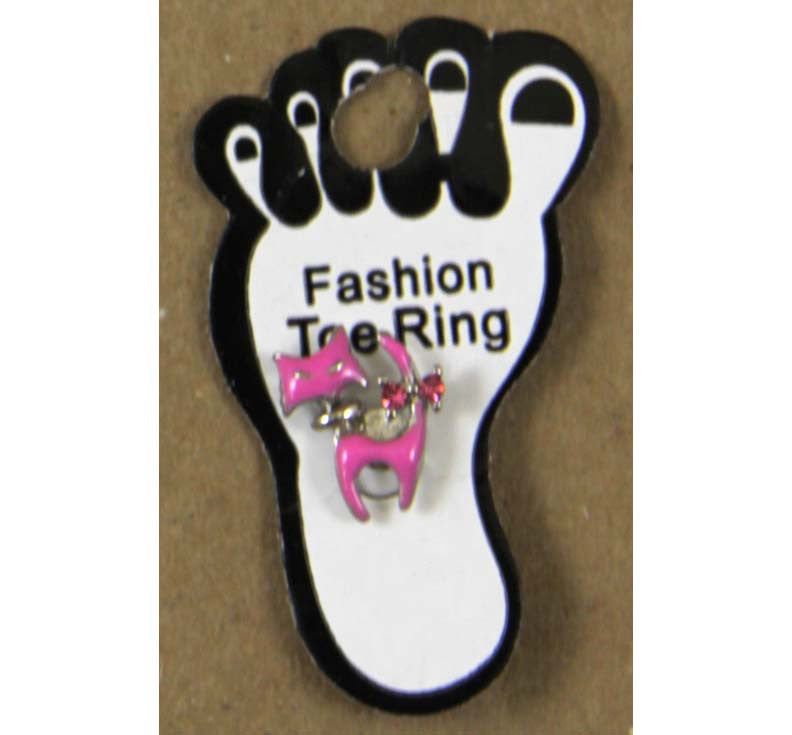 Toe Ring Cat Pink
