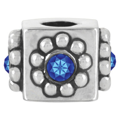September Crystal Cube LuTini Petite Birthstone Bead