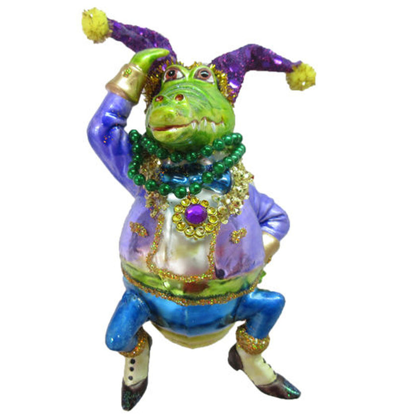 Mardi Gras Male Crocodile Ornament