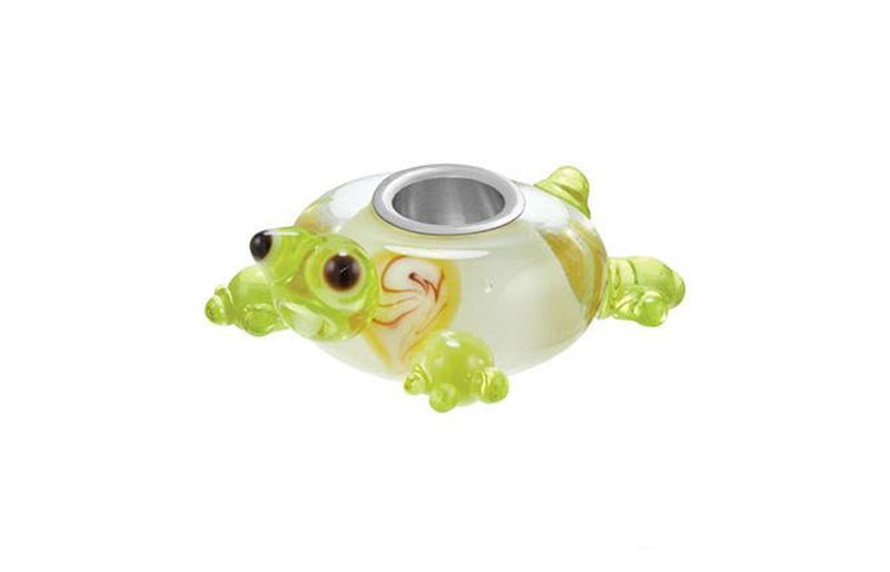 Turtle Glass Bead - Green