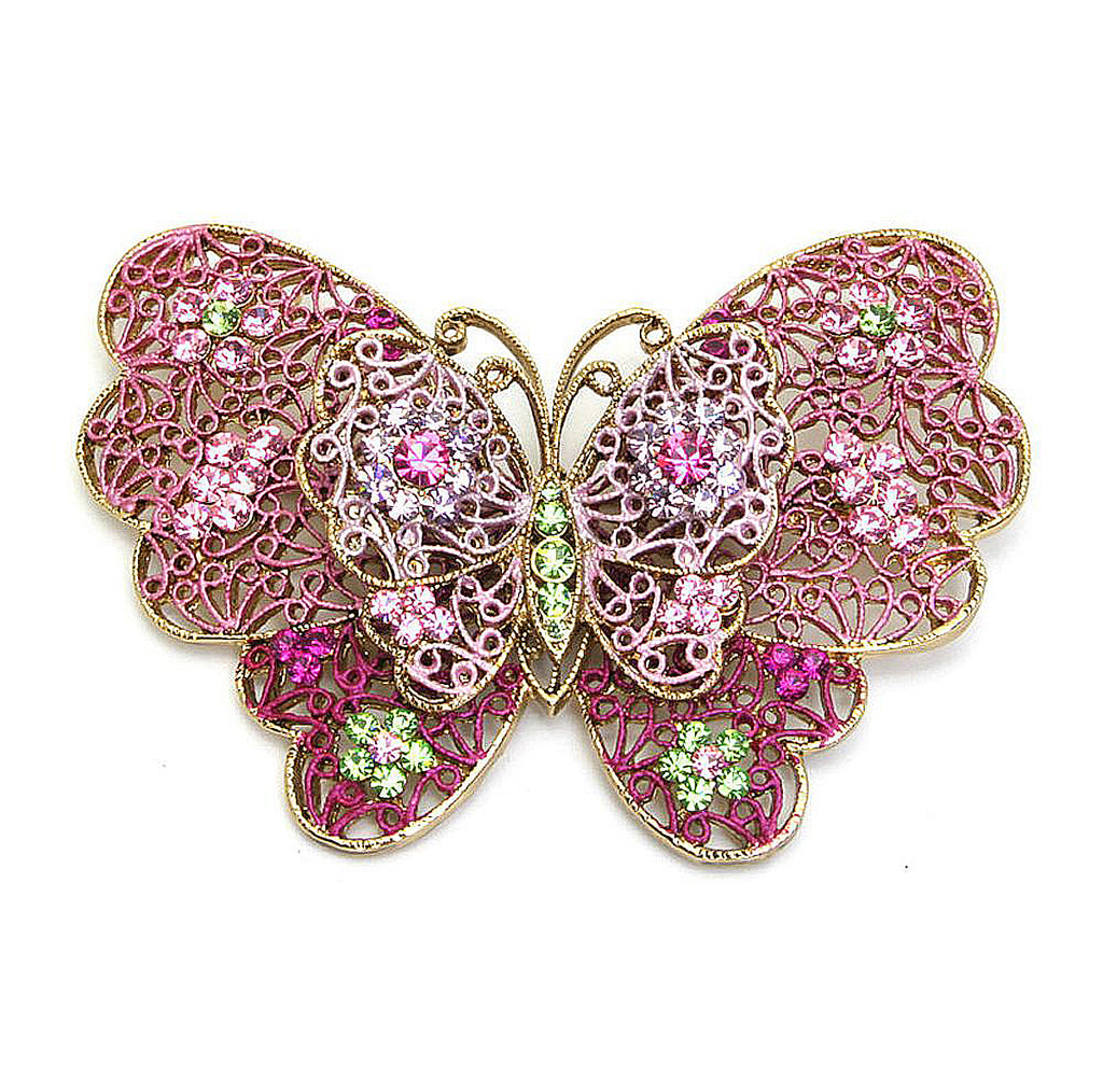 Filigree Butterfly Pin Pink