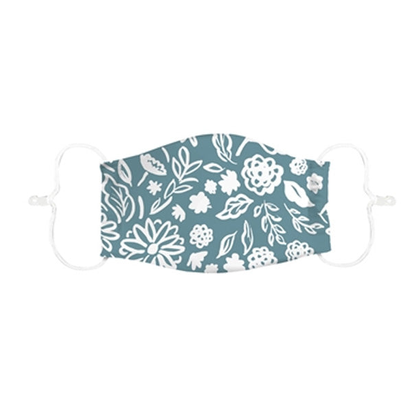 Adult Non-Medical Antimicrobial Cotton Face Mask, Leaves Design