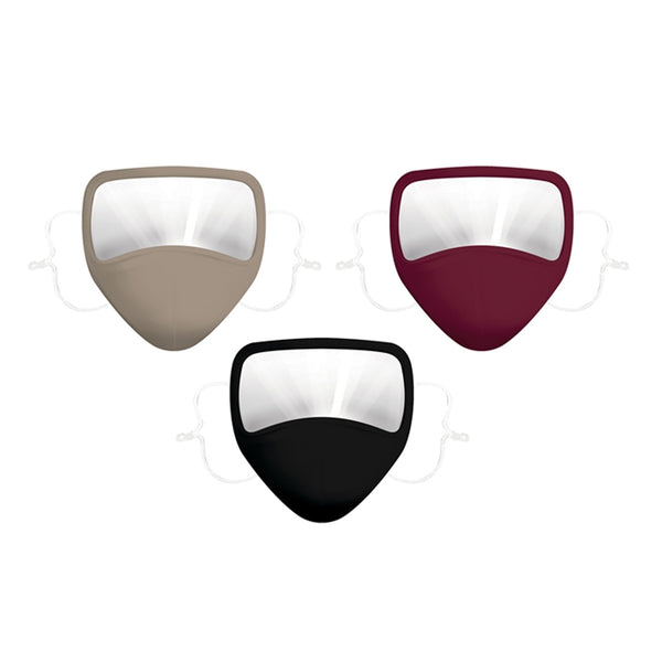 Adult Antimicrobial Non-Medical Cotton Face Mask with Reduced Fog Visor, 3 Colors