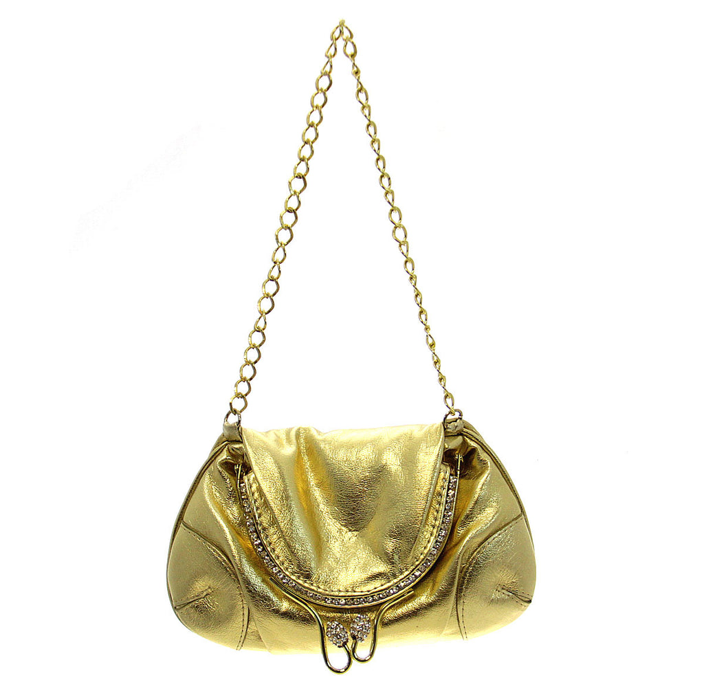 Gold Mini Crystal Party Clutch