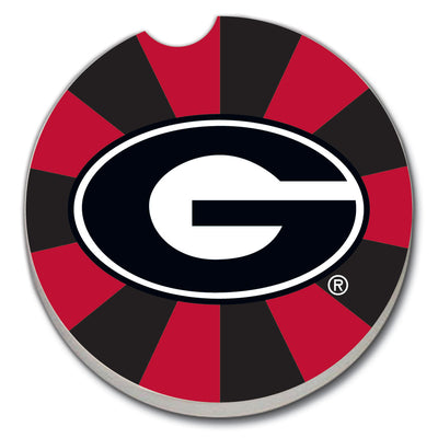 Car Coaster - Georgia on Red/Black