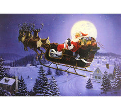 Box of 10 Christmas Cards Santa and Reindeers
