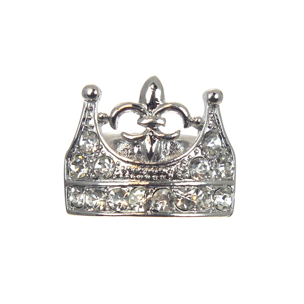 Crown with Fleur De Lis Stretch Ring