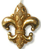 Diamond Fleur De Lis Ornament Gold Medium