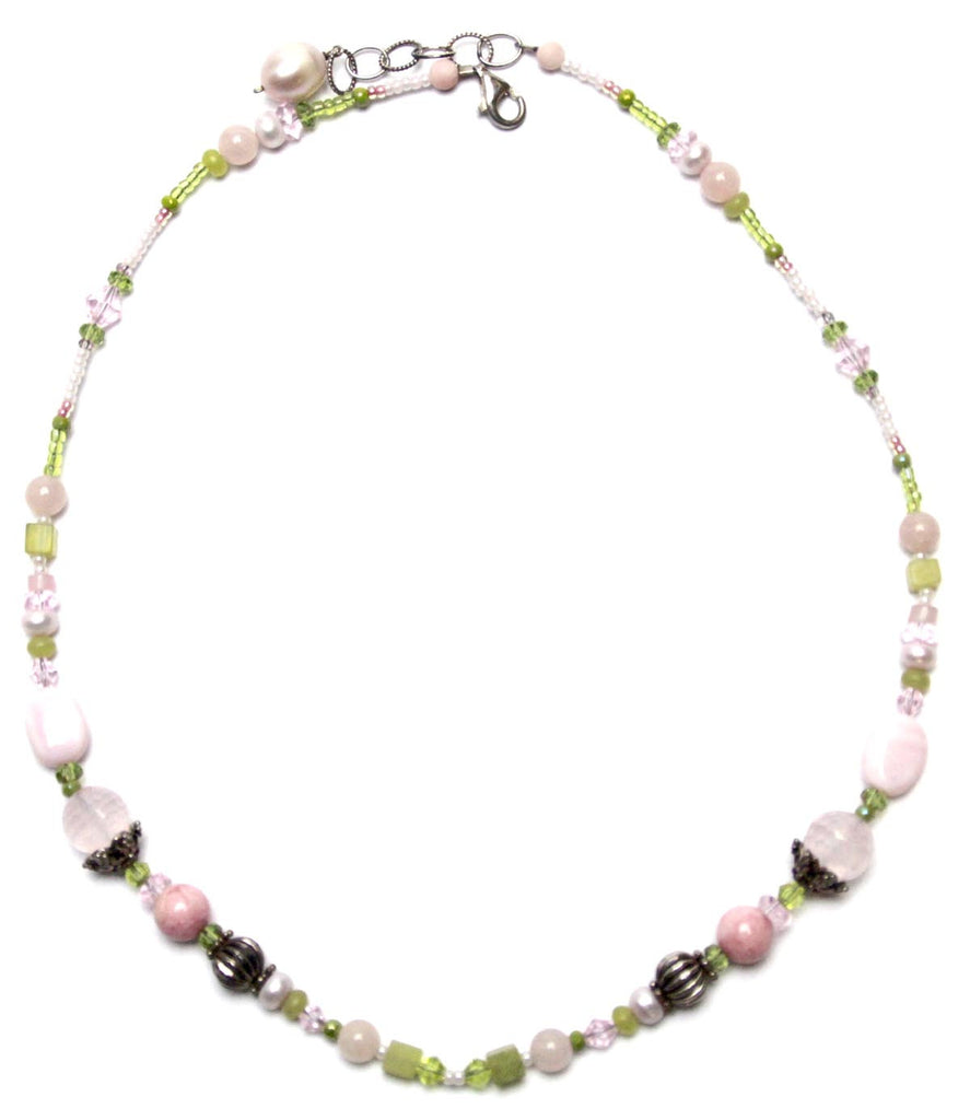 Gemstone Rhodonite Necklace