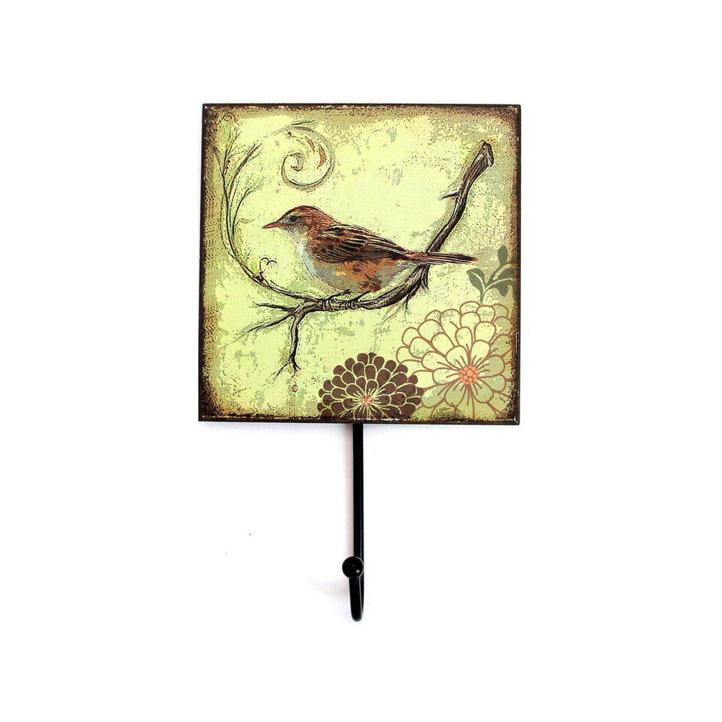 Bird Wall Hook green