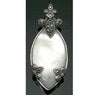 Sterling Silver Mother of Pearl Marcasite Pendant