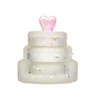 Wedding Cake Glass Trinket Box