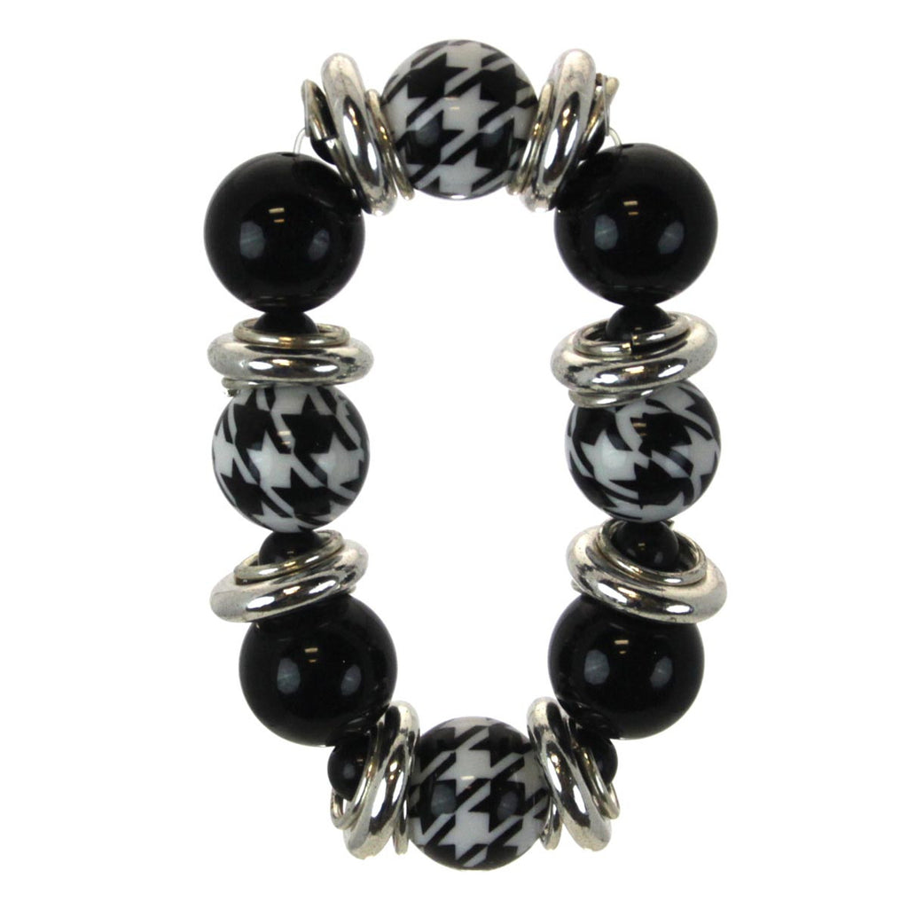 Houndstooth Bracelet Beaded Stretch