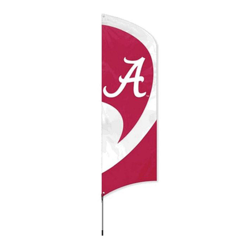 Tall Team Flag Alabama w/Pole