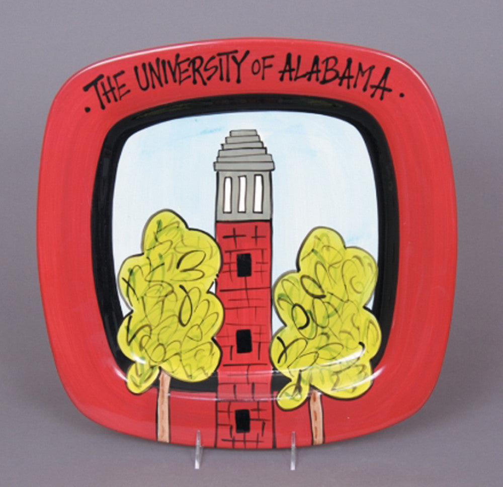 University of Alabama Square Platter