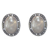 Sterling Silver Mother of Pearl Marcasite Earrings
