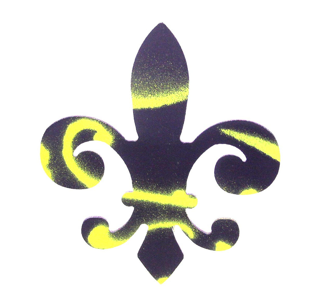 Fleur De Lis Barrette Purple & Yellow