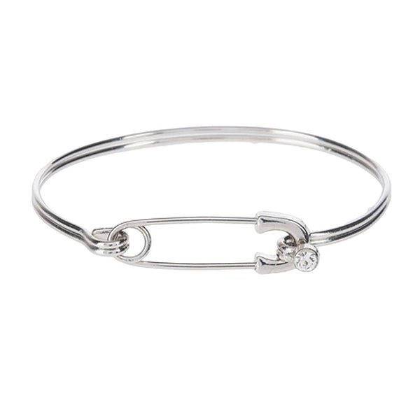 Diaper Pin Bangle Bracelet - Clear